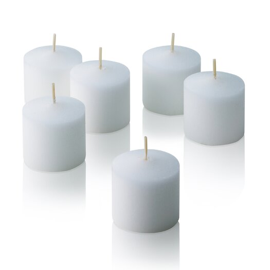 Light In the Dark White Unscented Votive Candles