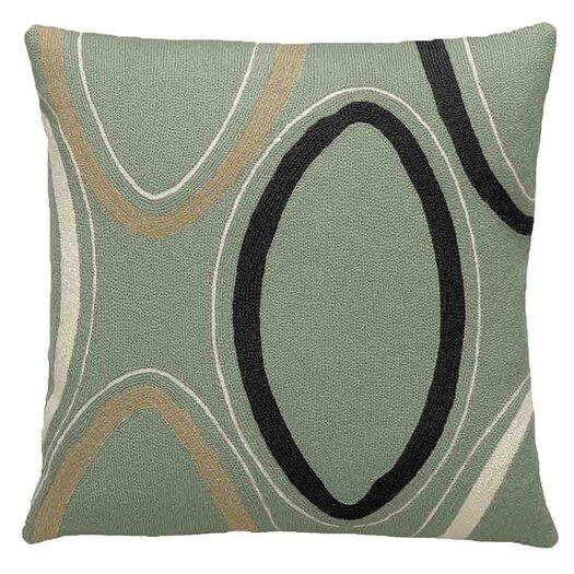 Ovals Wool Throw Pillow