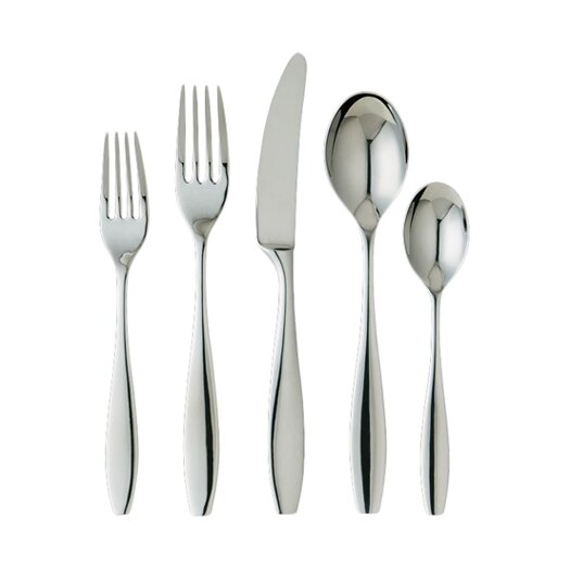 Ginkgo Skandia 5 Piece Flatware Set
