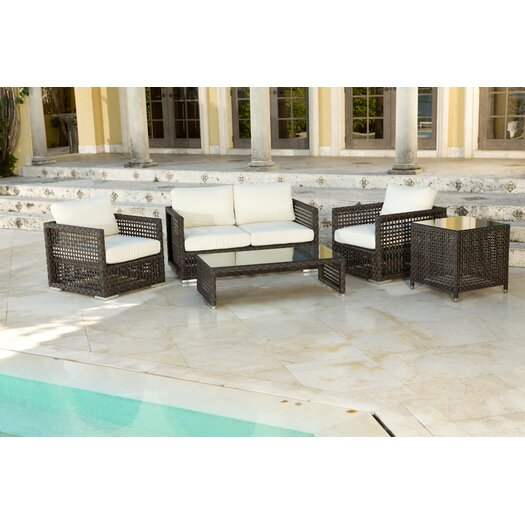 Source Outdoor Matterhorn 5 Piece Deep Seating Group with Cushions