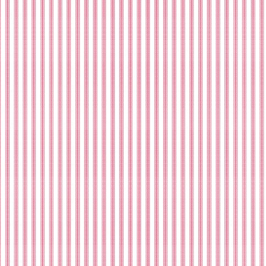 "York Wallcoverings Ashford Taffeta Ticking 33' x 20.5"" Stripe Wallpaper"