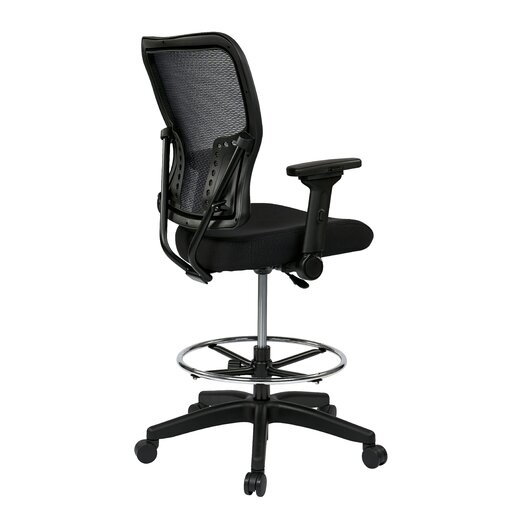 """Office Star Products Space 21.25"""" Chair with 4-Way Adjustable Flip Arms"""