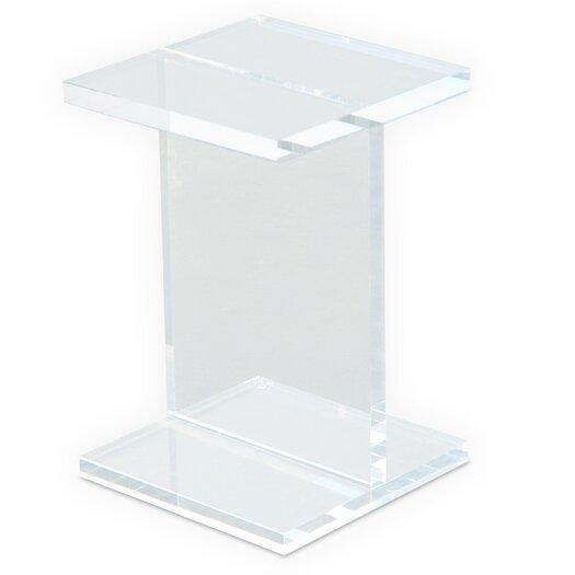 Acrylic I-Beam End Table