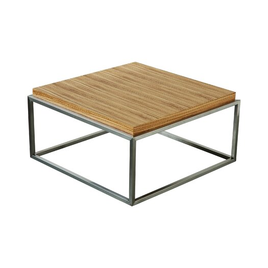 gus modern square drake coffee table allmodern. Black Bedroom Furniture Sets. Home Design Ideas
