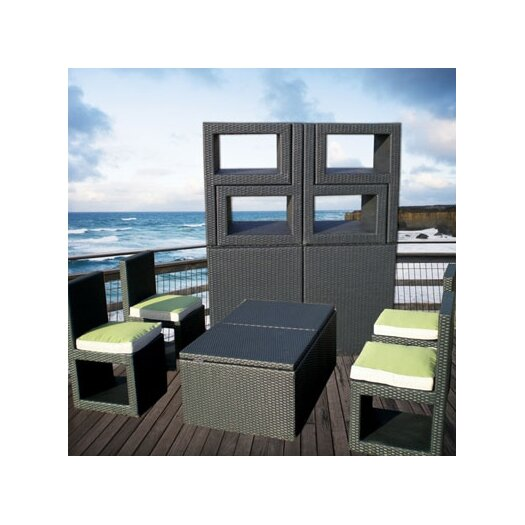 Deeco Deck Cetra 6 Piece Lounge Seating Group with Cushions