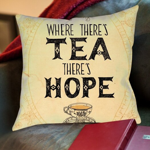 Hope Decorative Pillow : Americanflat Tea & Hope Throw Pillow AllModern