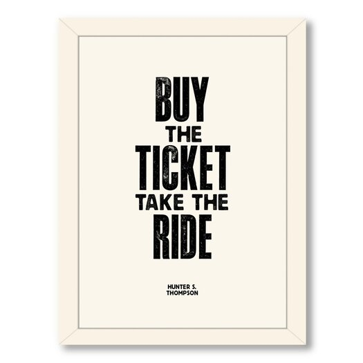 Americanflat Buy the Ticket Textual Graphic Art