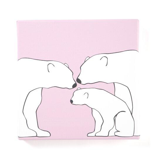 Animals Polar Bears Painting Print on Canvas