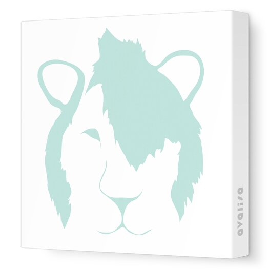 Avalisa Animal Faces Punk Lion Stretched Canvas Art