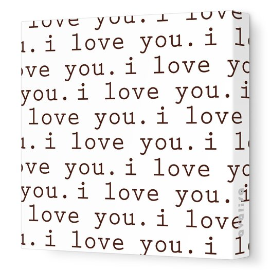 Avalisa Imaginations 'I Love You' Graphic Print on Stretched Canvas