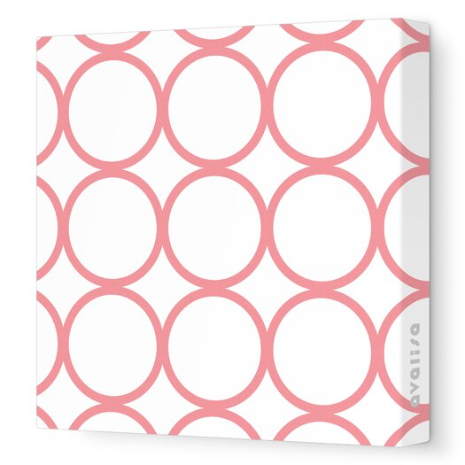 Avalisa Pattern Circles Stretched Canvas Art