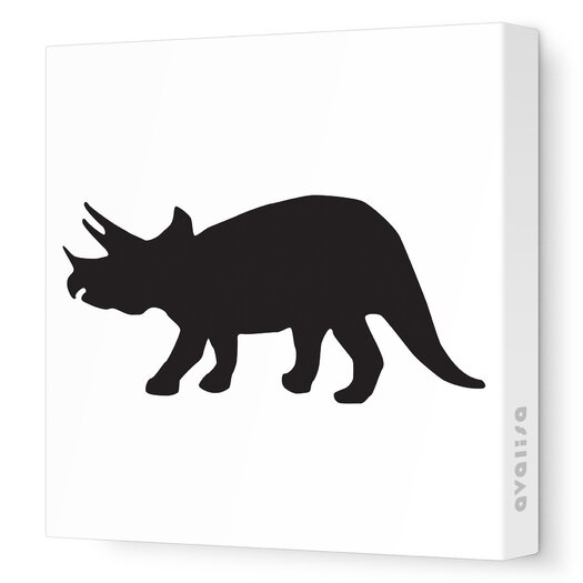 Avalisa Silhouettes Tri Stretched Canvas Art