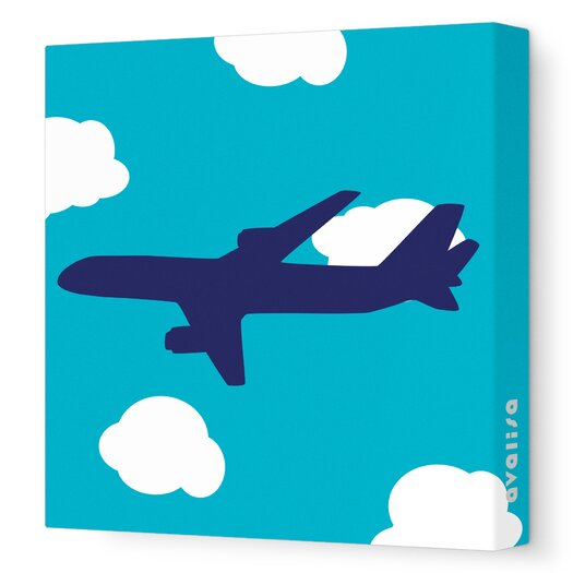 Avalisa Things That Go Flying Stretched Canvas Art