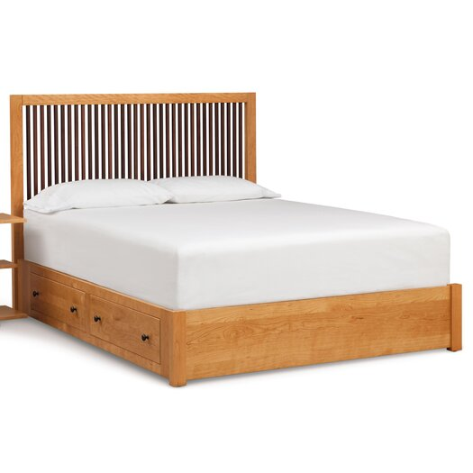 Dominion Storage Panel Bed with Spindle Headboard
