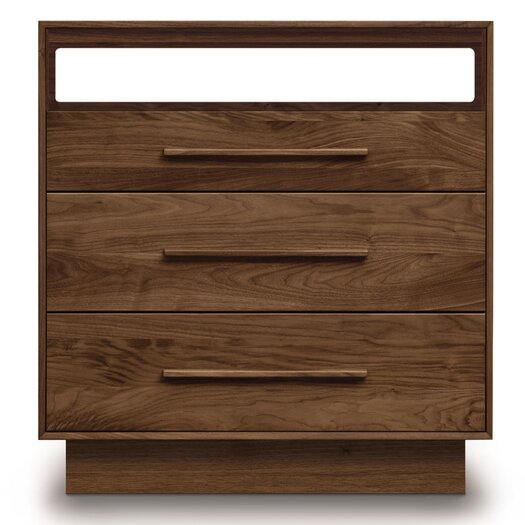 Copeland Furniture Moduluxe 3 Drawer Dresser with Media Organizer