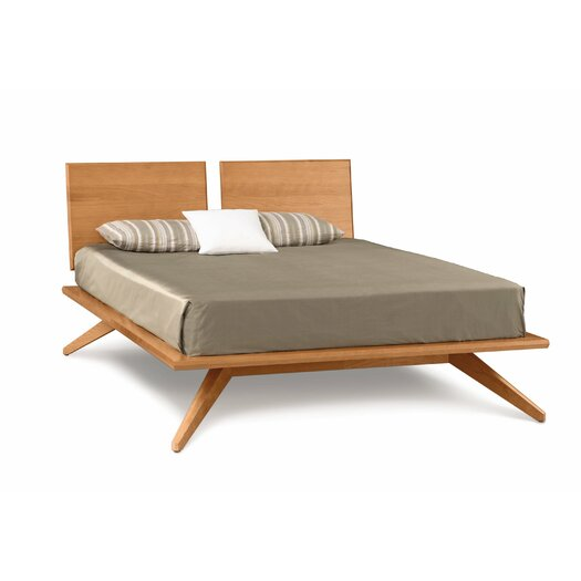 Copeland furniture moduluxe bed with upholstered microsuede headboard allmodern - Characteristics of contemporary platform beds ...
