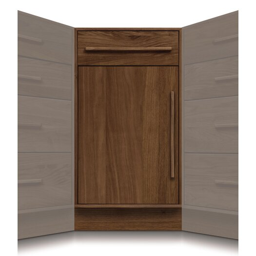 Copeland Furniture Moduluxe 1 Drawer over 1 Door Corner Chest