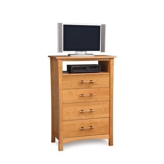 Copeland Furniture Monterey 4 Drawer Chest with Media Organizer