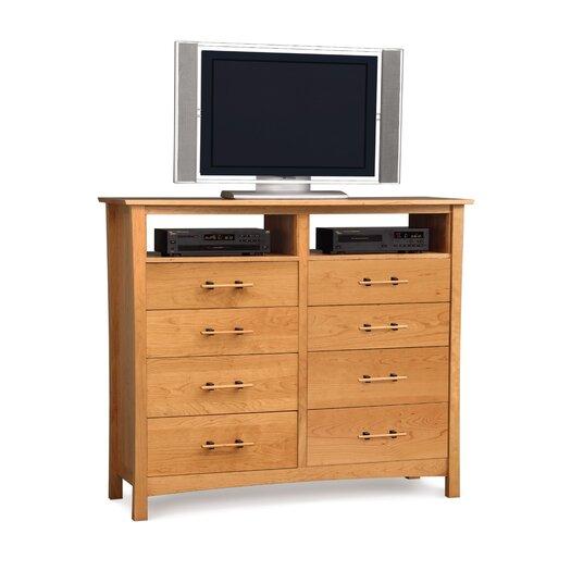 Copeland Furniture Monterey 8 Drawer Chest with Media Organizer