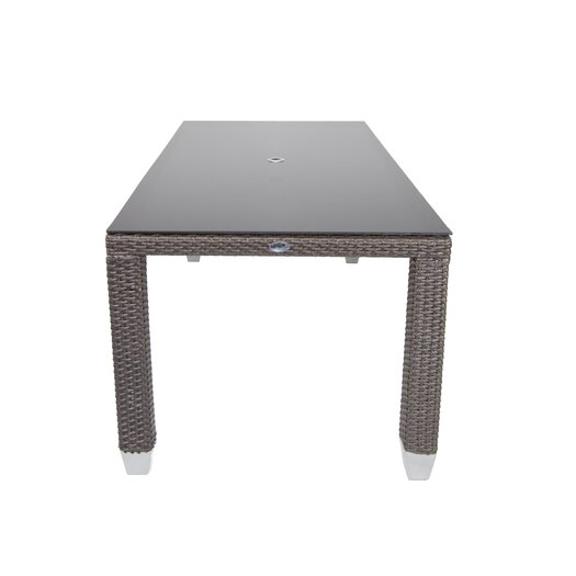 Patio Heaven Signature Dining Table Rectangular with Tempered Glass Top