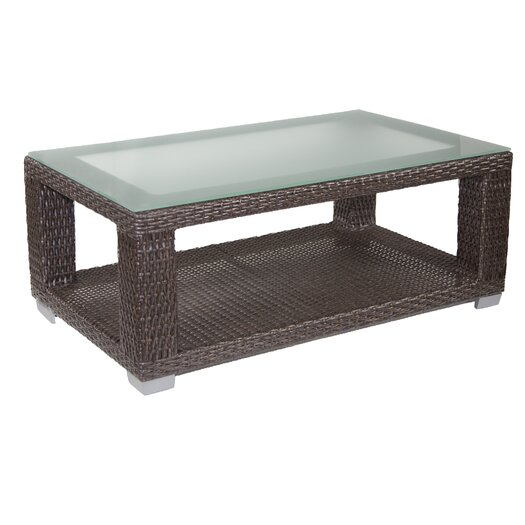 Patio Heaven Signature Coffee Table with Tempered Glass Top