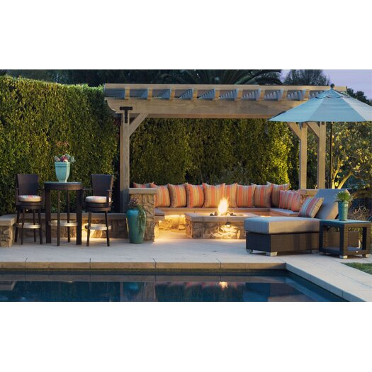Patio Heaven Signature 3 Piece Dining Set with Cushion