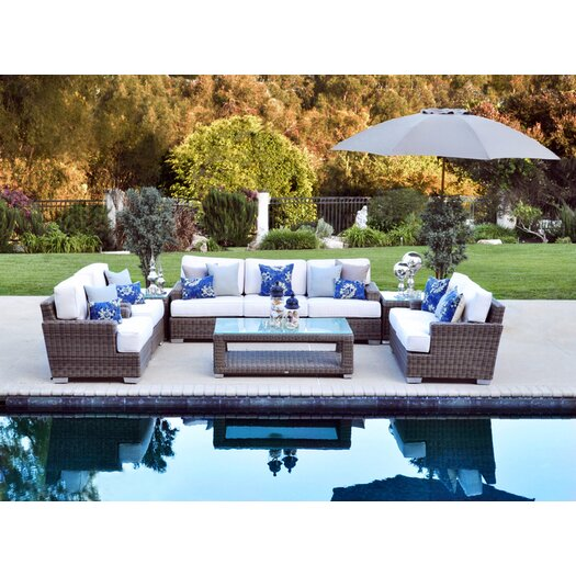 Patio Heaven Palisades 6 Piece Deep Seating Group with Cushions