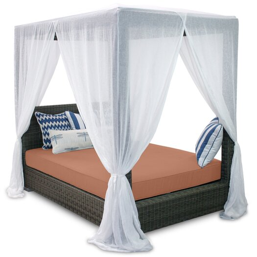 Patio heaven palisades queen canopy bed with cushions for Patio heaven