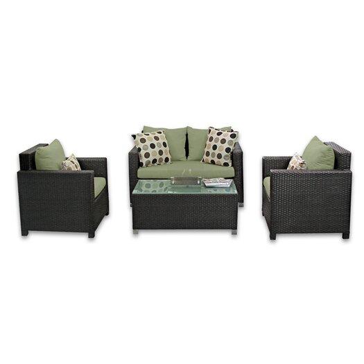 Patio Heaven Skye Venice 4 Piece Lounge Seating Group with Cushions