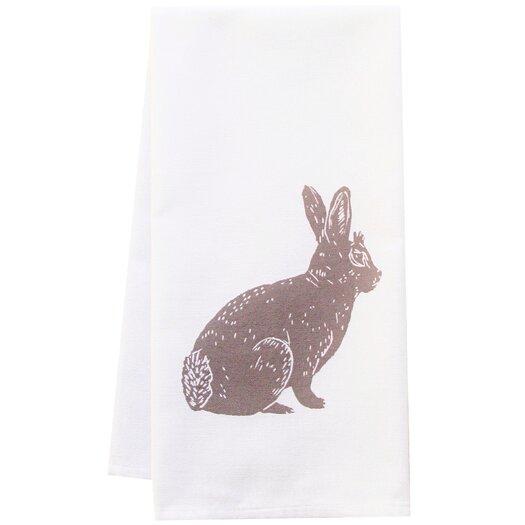 Artgoodies Organic Bunny Block Print Kitchen Towel