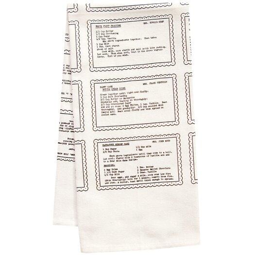 Artgoodies Organic Retro Recipes Dessert Tea Towel