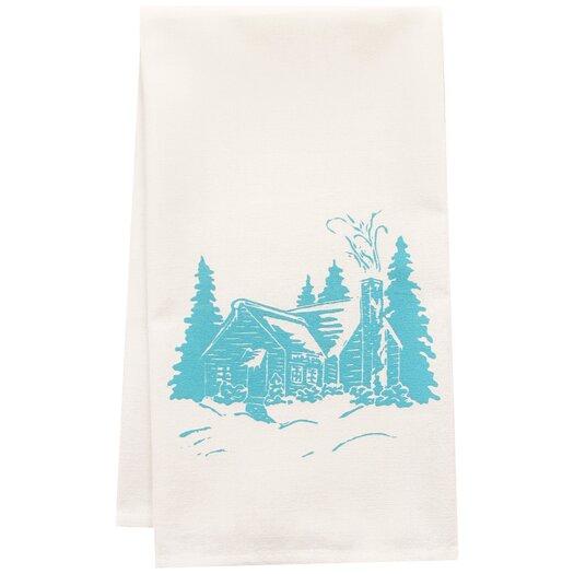 Artgoodies Organic Cabin Block Print Tea Towel