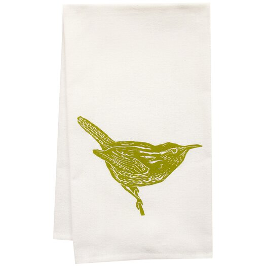 Artgoodies Organic Wren Block Print KitchenTowel