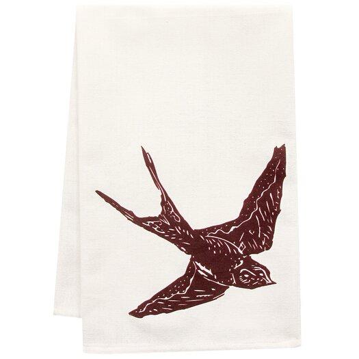 Artgoodies Organic Swallow Block Print Tea Towel
