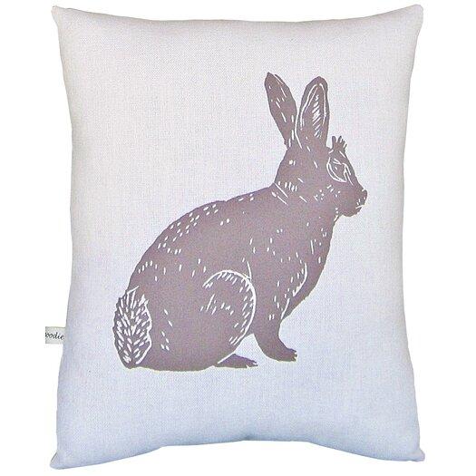 Artgoodies Bunny Block Print Squillow Accent Cotton Throw Pillow
