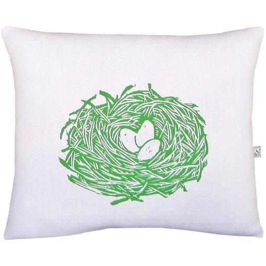 Artgoodies Squillow Nest Block Print Accent Cotton Throw Pillow