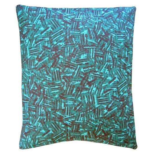 Artgoodies Owl Block Print Squillow Accent Cotton Throw Pillow