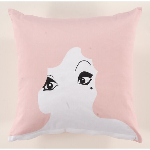 Twinkle Living Glamour Girl Cotton Throw Pillow