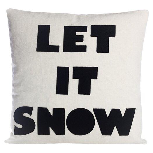 Alexandra Ferguson Weekend Getaway Let It Snow Throw Pillow