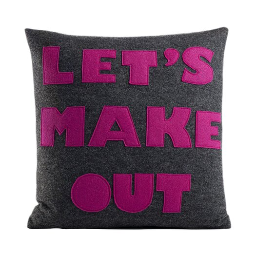 Alexandra Ferguson It Start With A Kiss Let's Make Out Throw Pillow