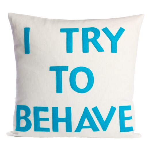 House Rules I Try To Behave Throw Pillow