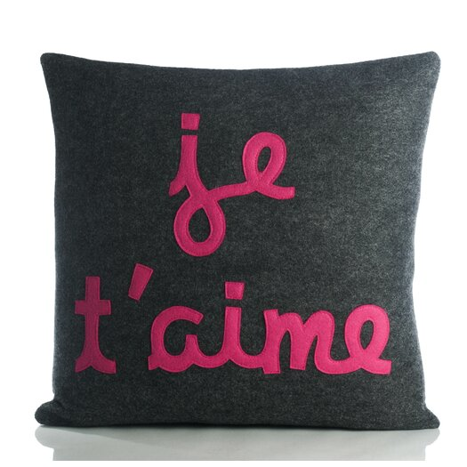 Alexandra Ferguson It Start With A Kiss Je T'Aime Throw Pillow