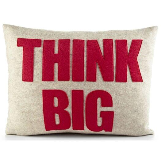 Mantras Think Big Lumbar Pillow