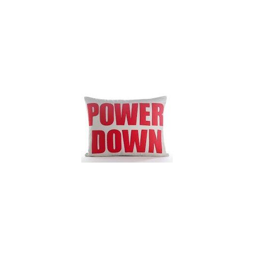 Modern Lexicon Power Down Throw Pillow