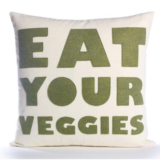 Good Advice Eat Your Veggies Throw Pillow