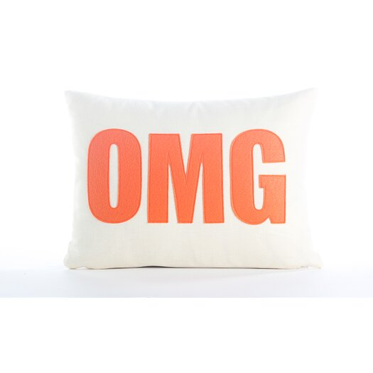 "Alexandra Ferguson Modern Lexicon ""OMG"" Throw Pillow"