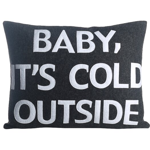 Baby, It's Cold Outside Eco-Friendly Lumbar Pillow