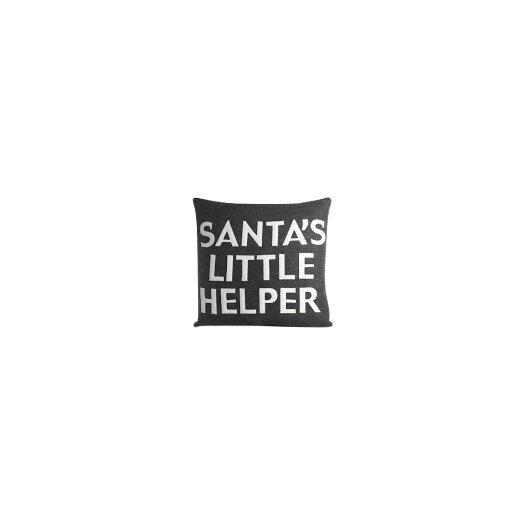 Holiday Santa's Little Helper Throw Pillow
