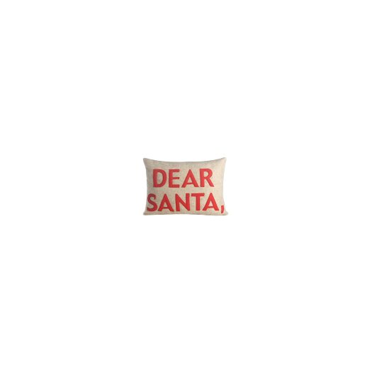 Holiday Dear Santa Lumabr Pillow