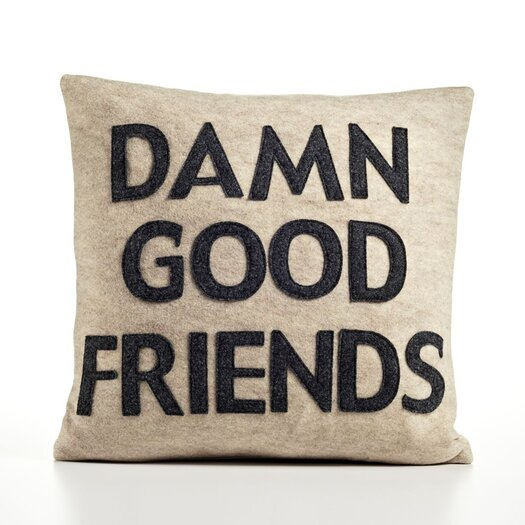 Alexandra Ferguson It Start With A Kiss Damn Good Friends Throw Pillow